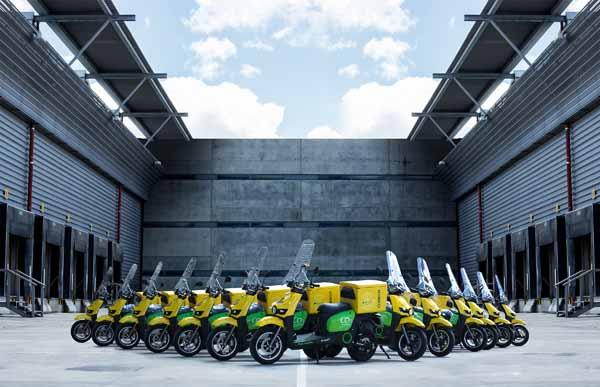 Motocicletas eléctricas para Correos.